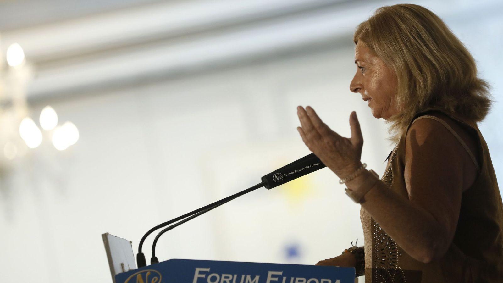 Foto: Consuelo Ordóñez, presidenta de Covite, en un acto. (EFE)