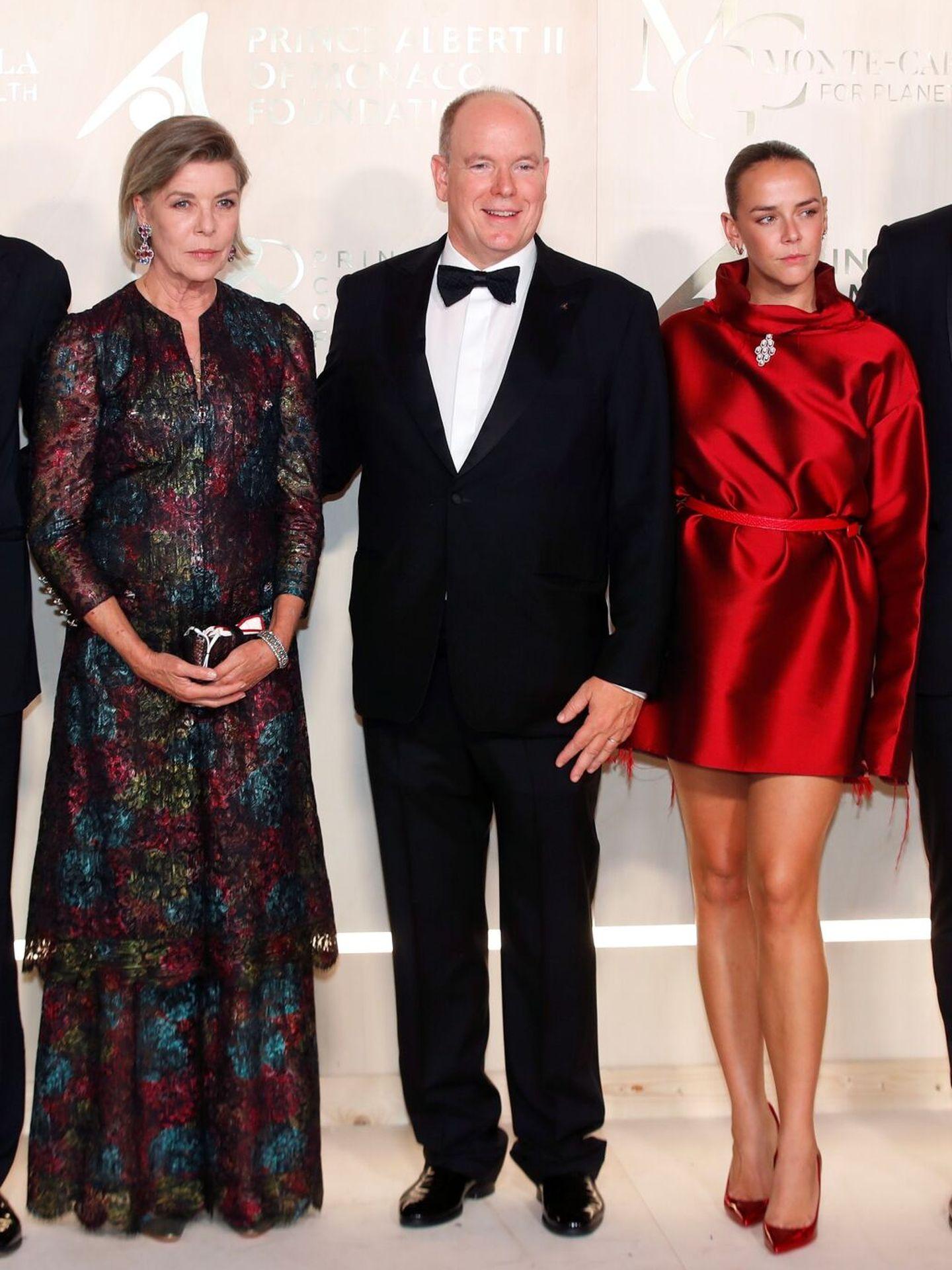 Carolina, Alberto y Pauline Ducruet. (EFE)