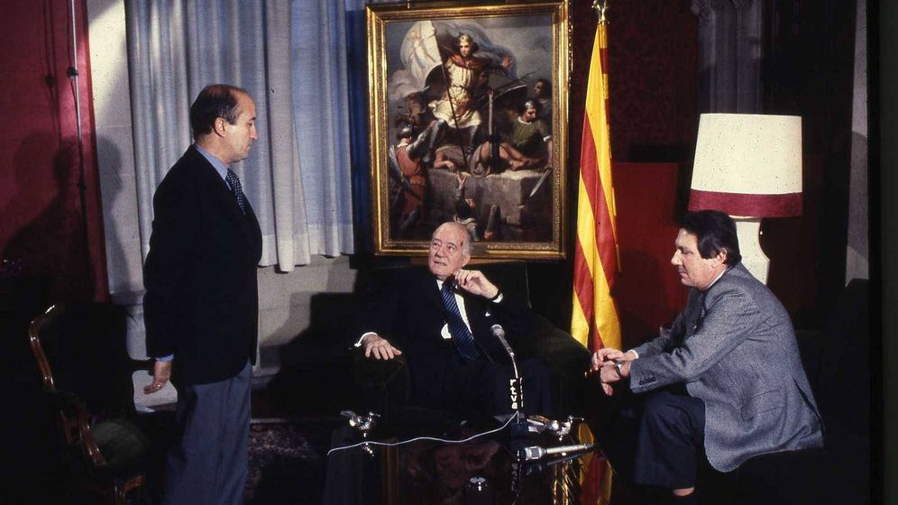 Foto: Jorge Arandes, Josep Tarradellas y Joan Armengol RTVE. (RTVE)