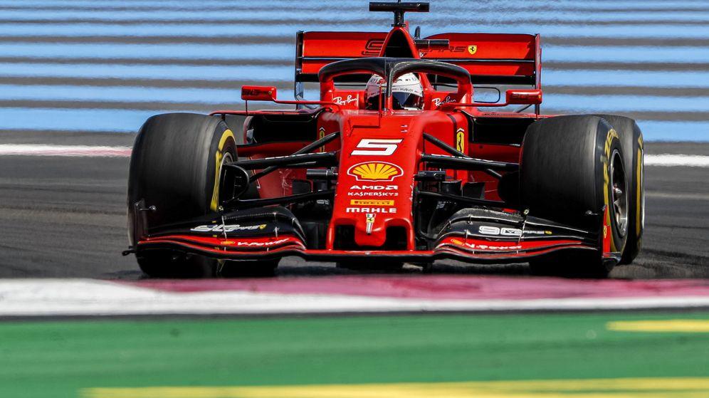 Foto: Vettel durante el GP de Francia. (EFE)
