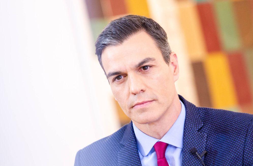 Foto: El presidente del Gobierno, Pedro Sánchez, durante la entrevista con El Confidencial, el pasado 5 de abril en la Moncloa. (Jorge Álvaro Manzano)