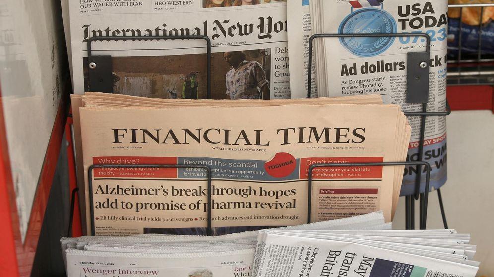 Foto: Diarios internacionales en un kiosco en Londres (Reuters)