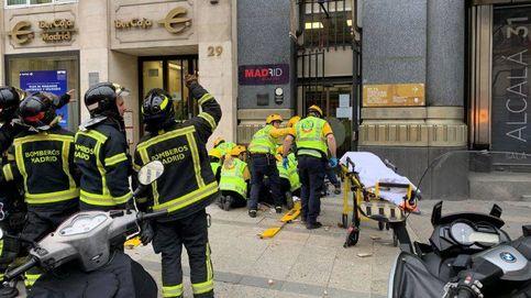 Herida crítica al caer cascotes de un edificio en el centro de Madrid