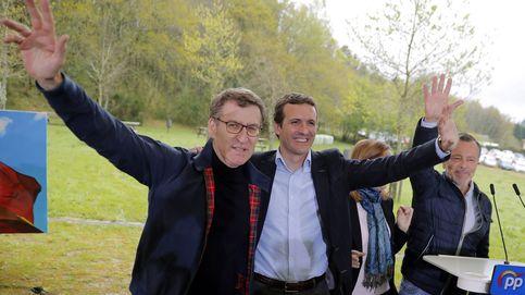 Feijóo y Casado escenifican en Galicia el viraje al centro del PP: Aquí cabemos todos