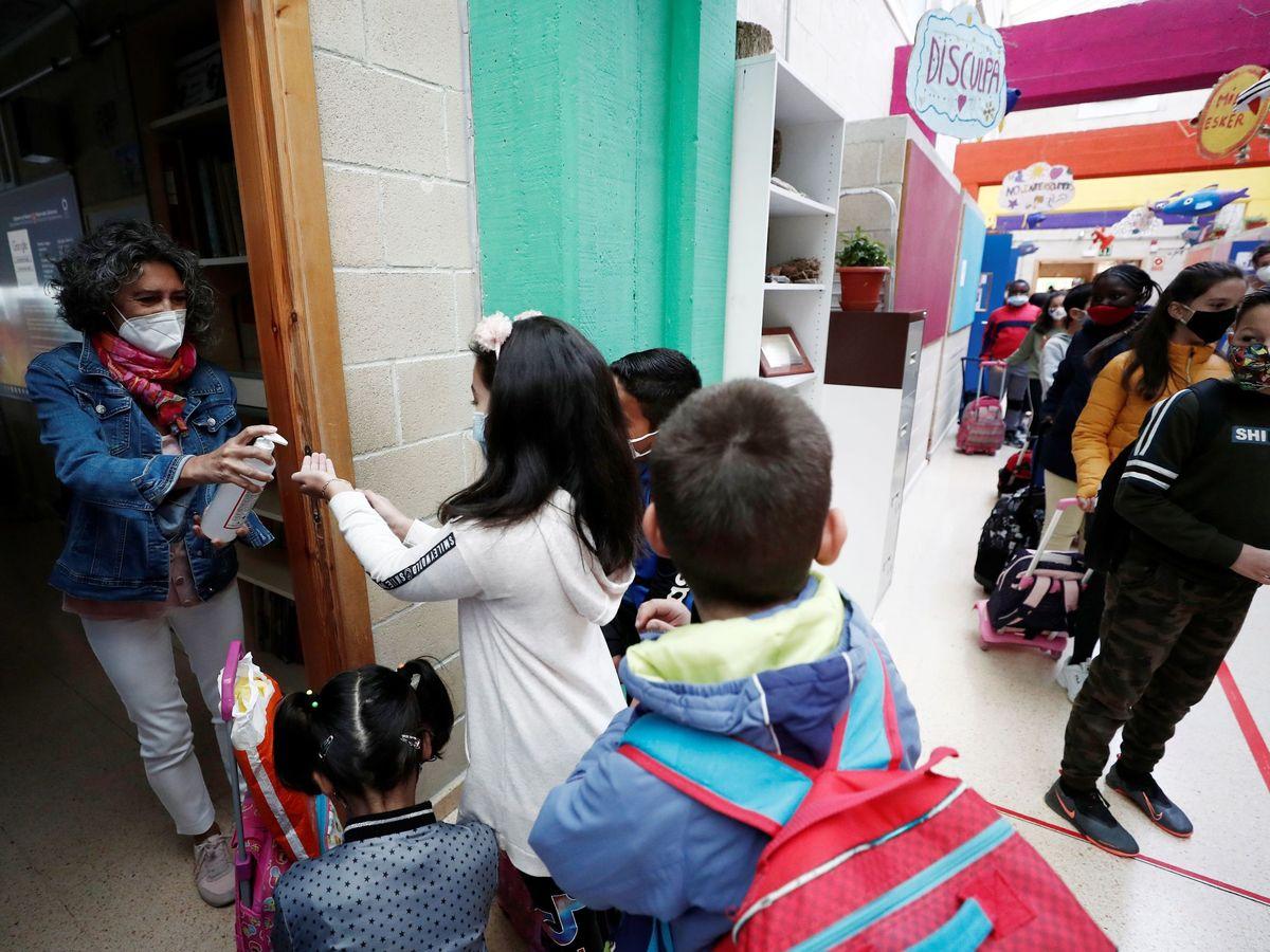 Foto: Curso escolar en Navarra. (EFE)