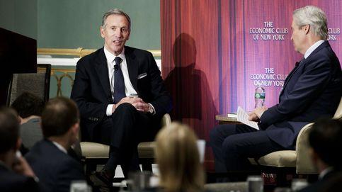 Howard Shultz (Starbucks) en el evento del club económico de NY