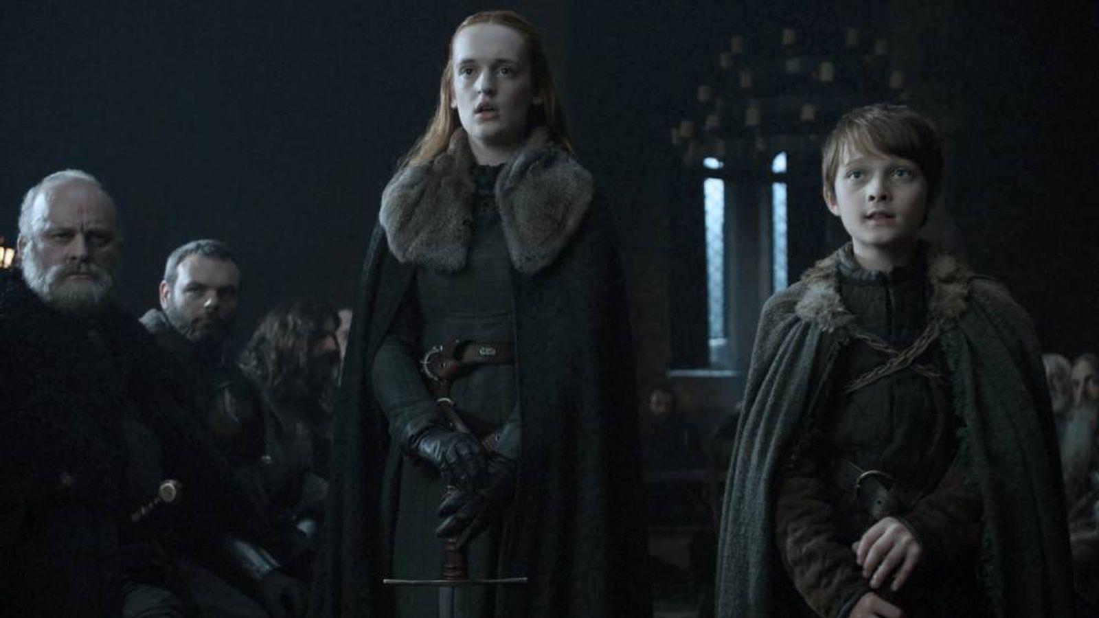 Foto: Ned Umber (primero por la derecha) en 'Juego de Tronos'. (HBO)