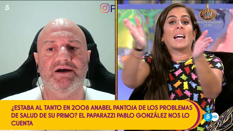 Anabel Pantoja frente a Pablo, en 'Sálvame'. (Telecinco)