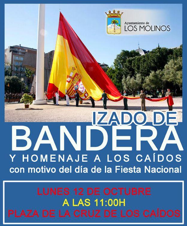 Foto: Cartel publicado por el Ayuntamiento de Los Molinos, en Madrid.