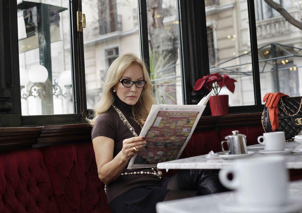 Foto: Carmen Lomana en el 'Café del Espejo' en enero de 2013 (Enrique Villarino)