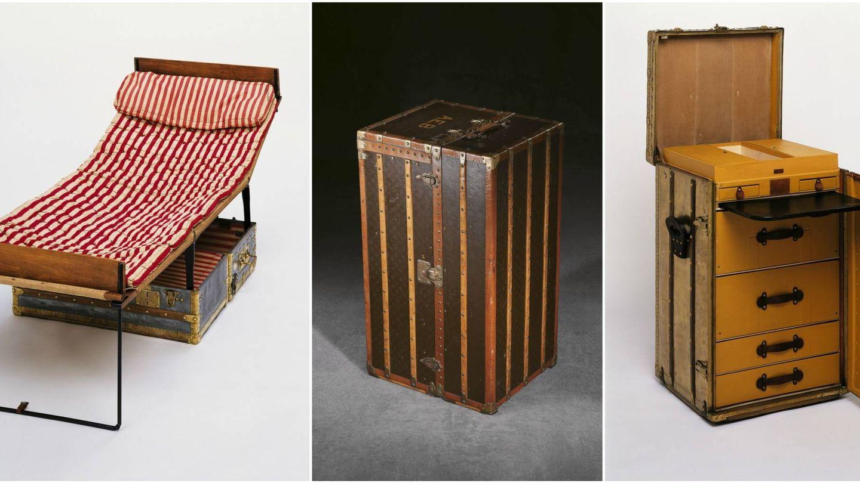 Camas plegables, baúles-armario y escritorios. El universo de la firma francesa para el viajero era infinito. (Imagen: Cortesía Louis Vuitton)