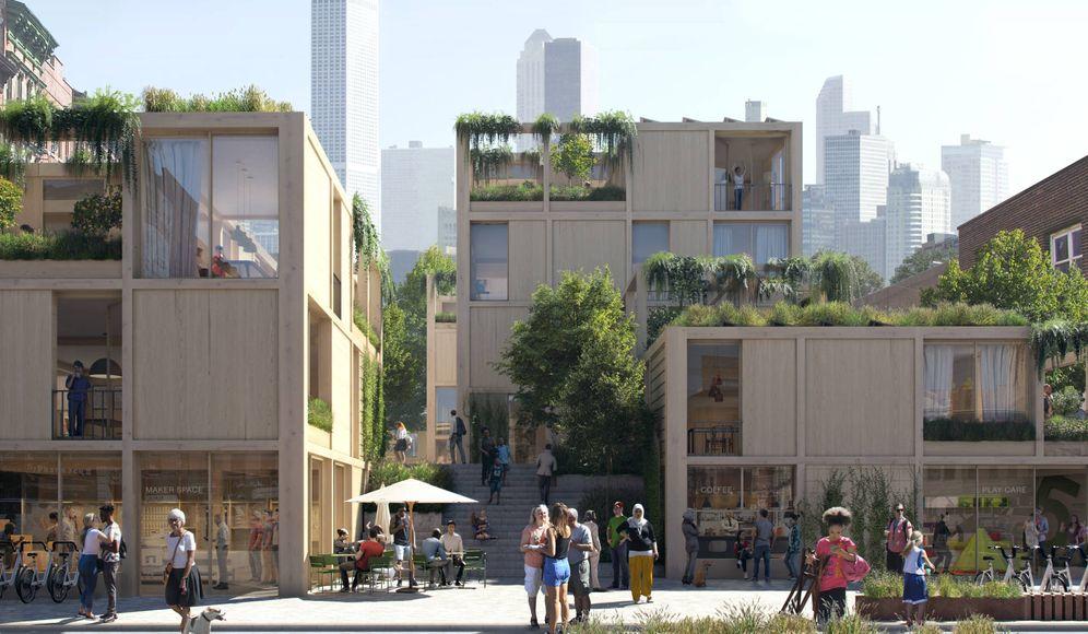Foto: Así será la ciudad del futuro a ojos de Ikea. (Imagen facilitada por la compañía)