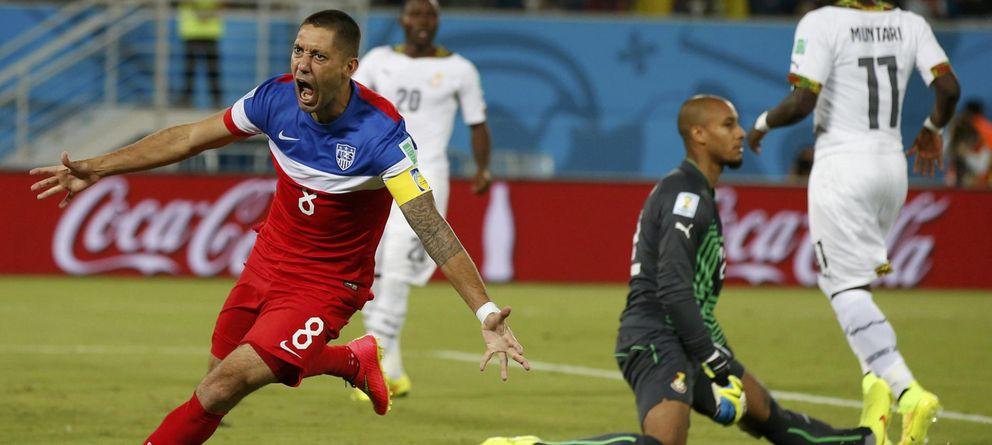 Foto: Dempsey marcó el que será posiblemente el gol más rápido del torneo.