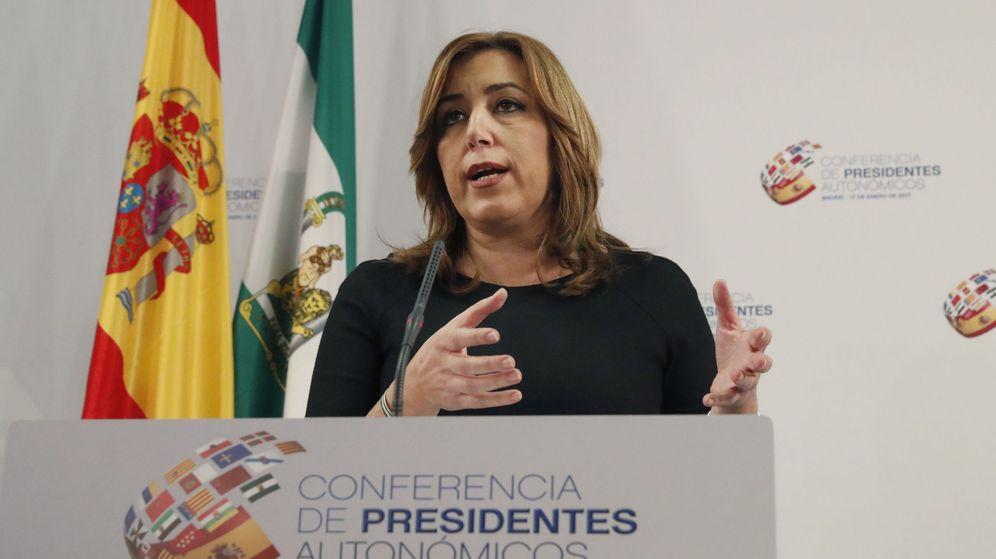 Foto: La jefa de la Junta de Andalucía, Susana Díaz, este martes en el Senado tras la VI Conferencia de Presidentes. (EFE)