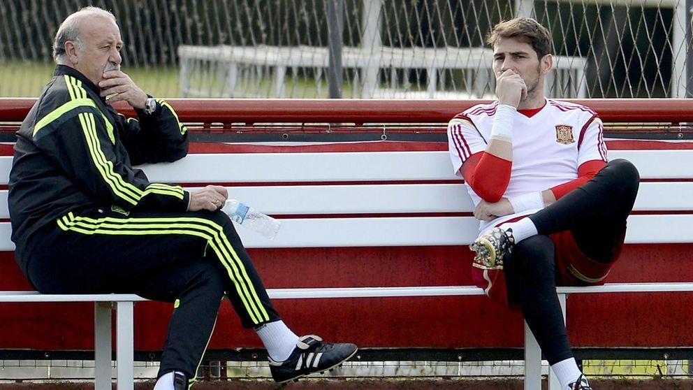 Del Bosque defiende a Casillas de los ataques del 'lado oscuro' del Bernabéu