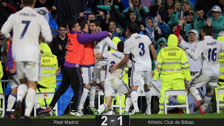 Foto: Morata desató la locura una vez más. (Zipi/EFE)