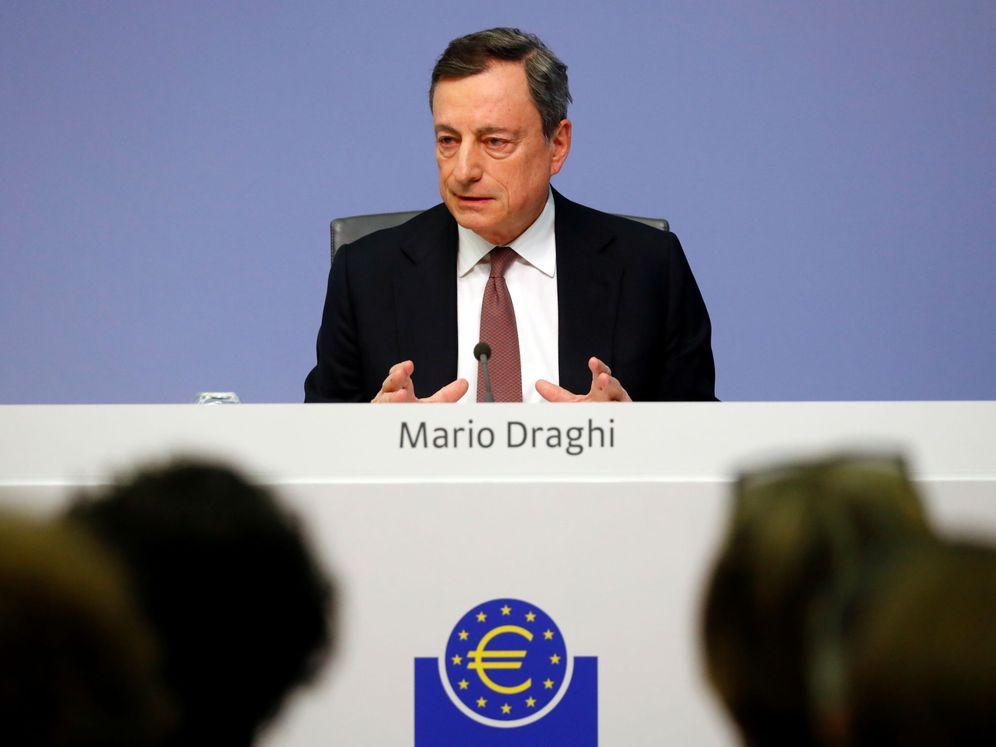 Foto: El presidente del BCE, Mario Draghi, en una conferencia de prensa. (Reuters)