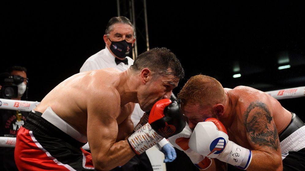 Foto:  Sergio Maravilla Martínez, el pasado 22 de agosto, en su primea pelea tras el regreso a la competición. (Efe)