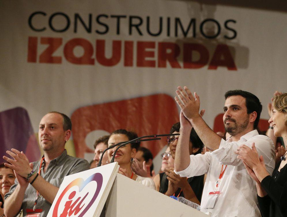 Foto: Alberto Garzón, el pasado 5 de junio en la clausura de la XI Asamblea Federal de IU, en la que fue proclamado nuevo coordinador. (EFE)