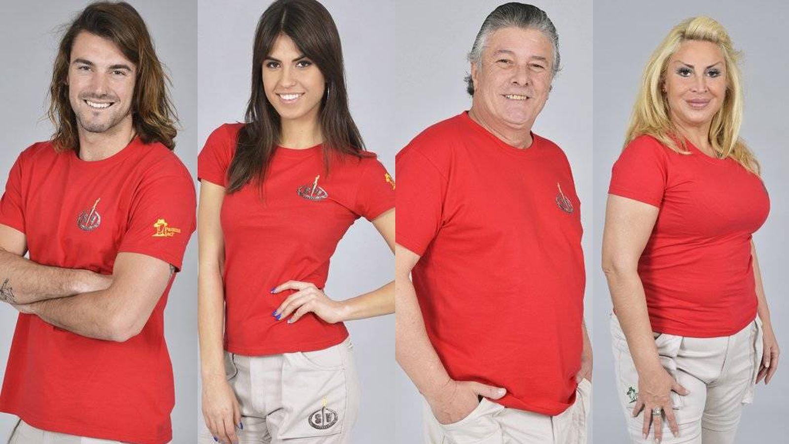 Foto: Los cuatro nuevos nominados de 'Supervivientes'. (Telecinco)