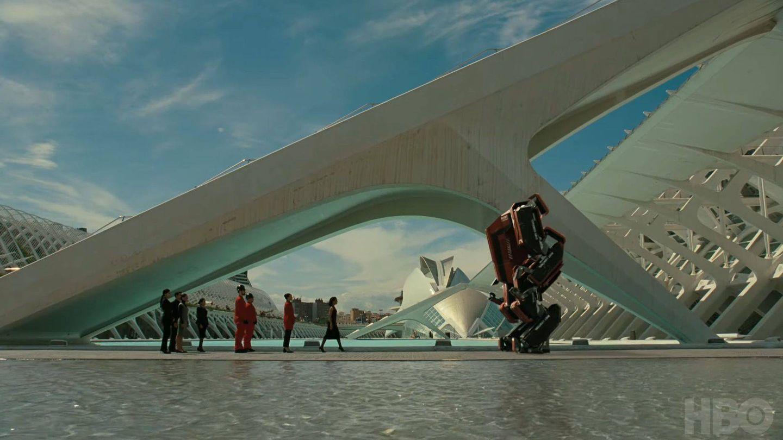 La Ciudad de las Artes y las Ciencias de Valencia, en 'Westworld'. (HBO)