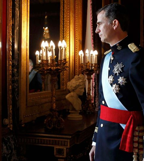 Foto: El Rey Felipe VI, el día de su proclamación en el Palacio Real de Madrid (Reuters)
