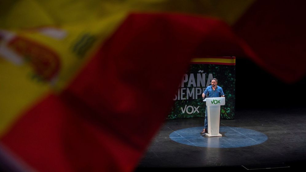 Foto: Santiago Abascal en un acto en Santander. (Efe)