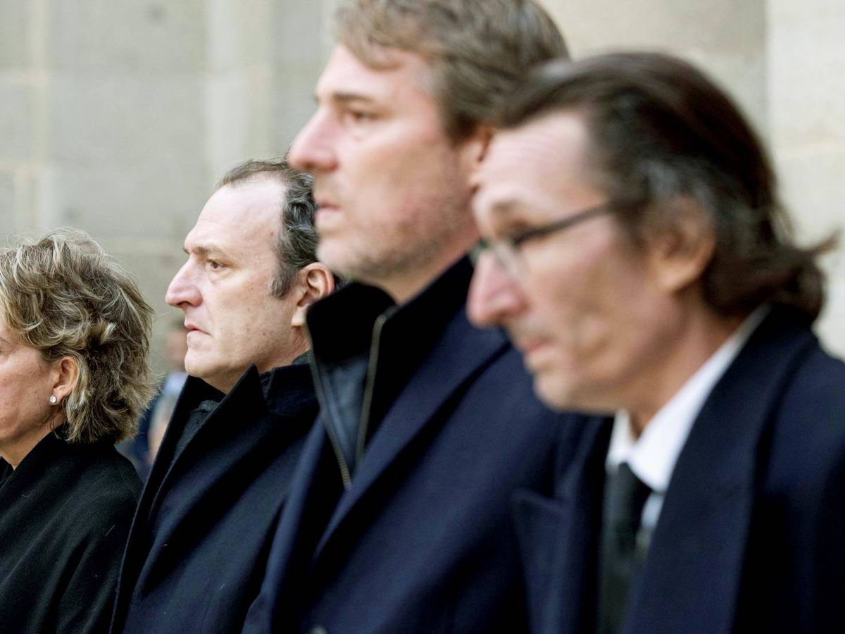Foto: De izquierda a derecha: Simoneta, Juan, Beltrán y Fernando Gómez-Acebo Borbón. (EFE)