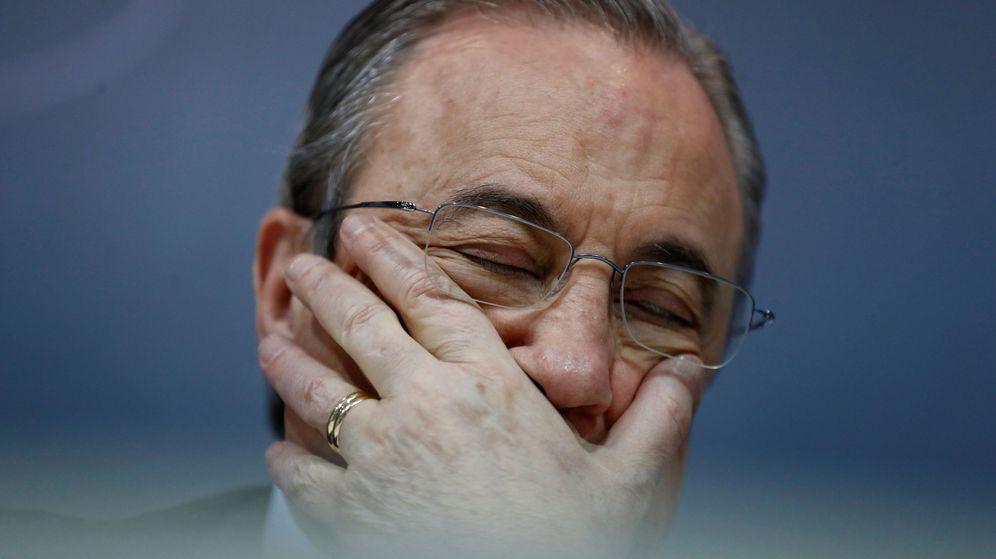 Foto: Florentino Pérez, durante una rueda de prensa. (Reuters)
