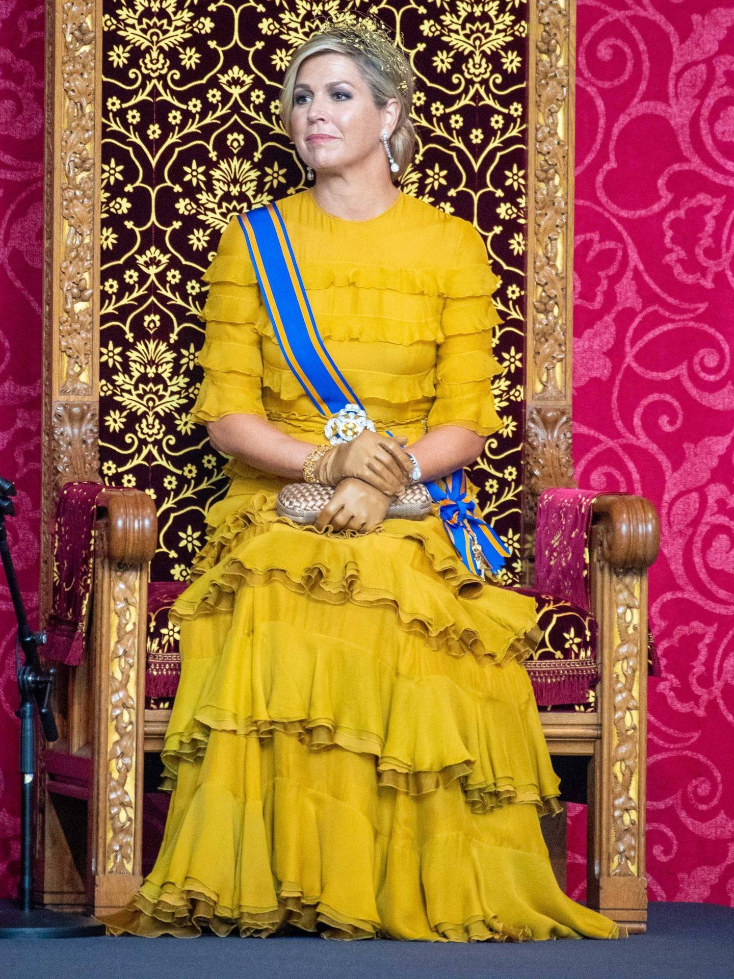 Máxima, en las celebraciones del Prinsjesdag de 2020. (Cordon Press)