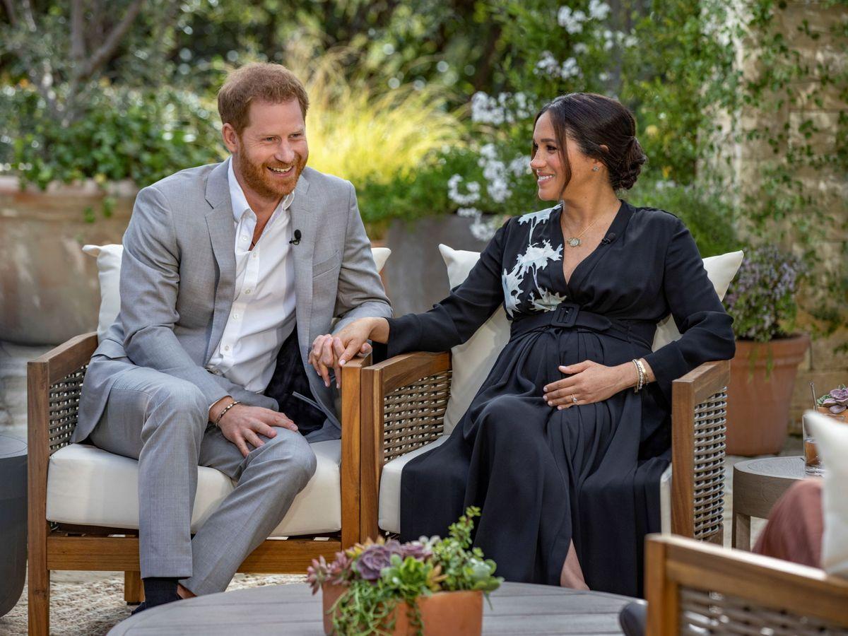 Foto: Meghan y Harry, durante la entrevista. (Reuters)