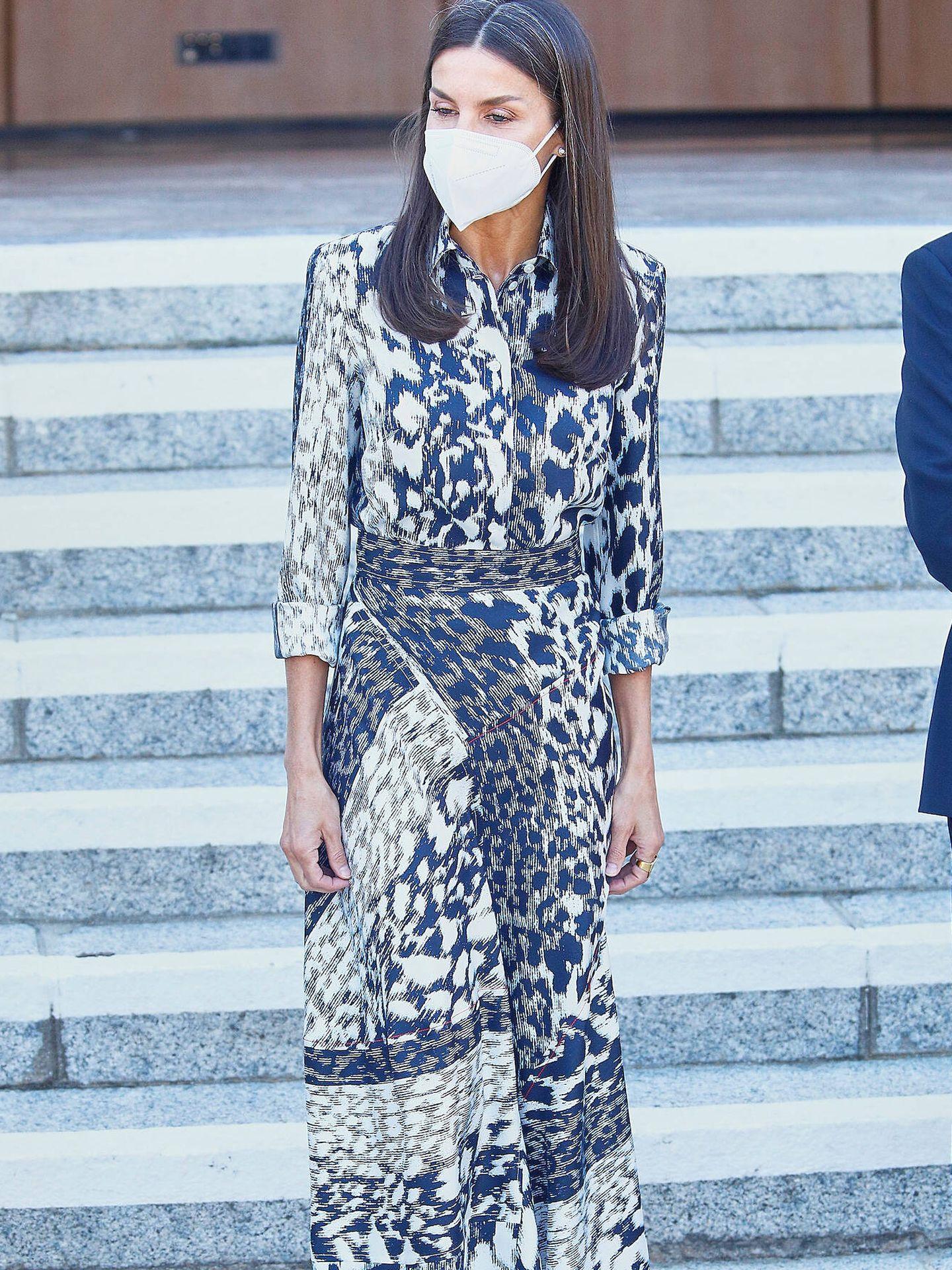 La reina Letizia, en el acto de la Jornada Mundial de la Ceguera. (LP)
