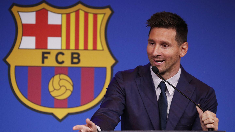 Messi, durante su comparecencia. (REUTERS)
