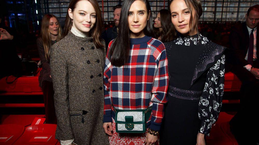 Foto: Emma Stone, Jennifer Connelly y Alicia Vikander. (Louis Vuitton)