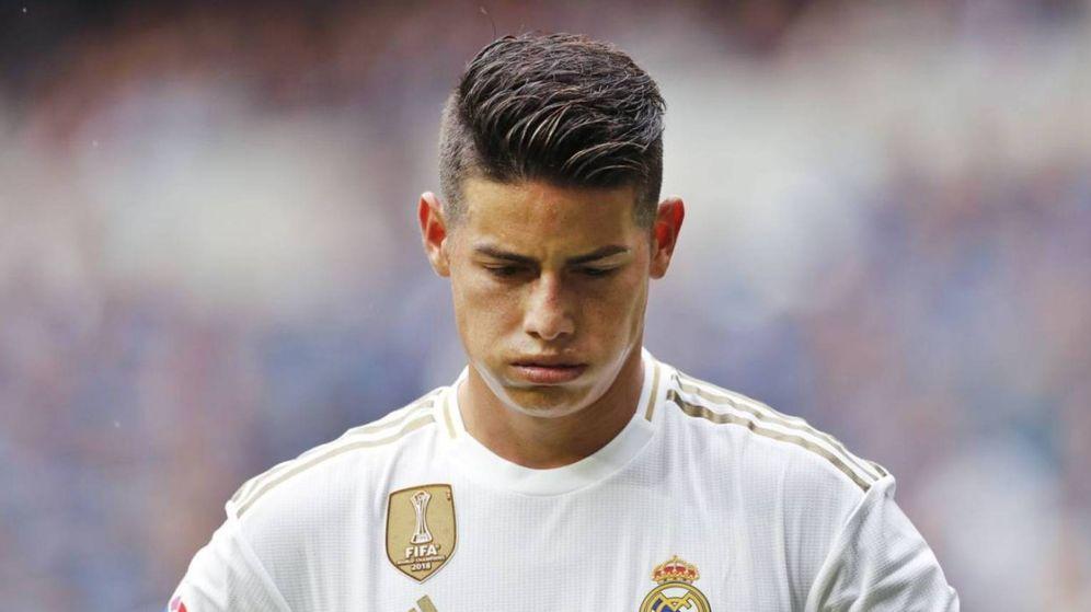 Foto: James Rodríguez suspira en un partido del Real Madrid