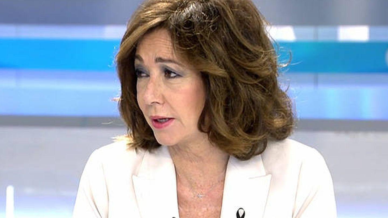Detalle del nuevo corte de pelo de Ana Rosa Quintana. (Mediaset)