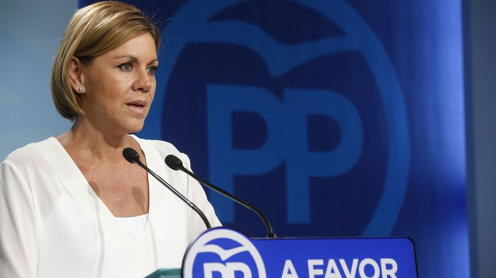 Foto: Cospedal valora los resultados de elecciones gallegas y vascas. (EFE)