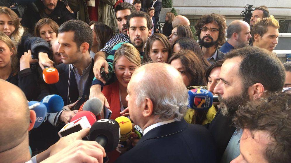 Foto: Fernández Díaz, a su llegada al Congreso de los Diputados (Foto: Paloma Esteban).