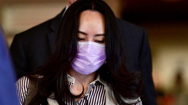 Meng Wanzhou, directora financiera de Huawei, durante su juicio en Vancouver. (Reuters)