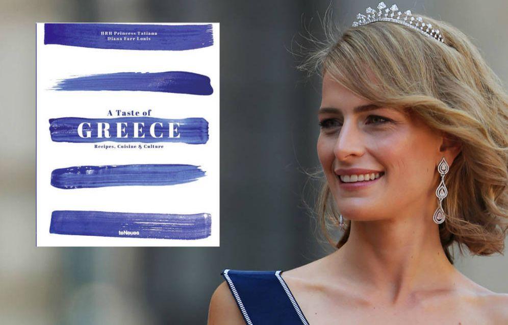 Foto: Tatiana de Grecia y la portada del libro que acaba de presentar