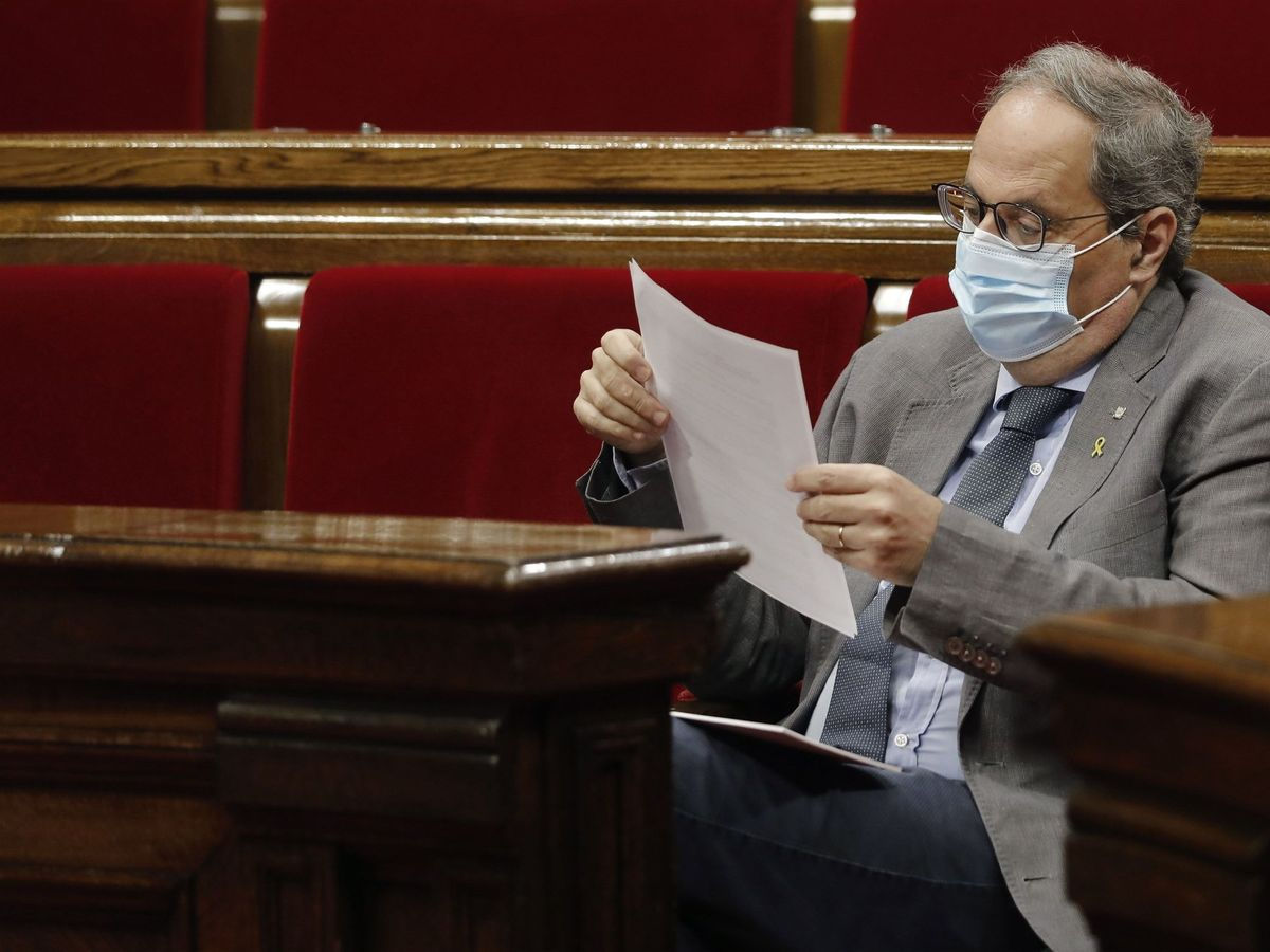 Foto: Sesion de control al Govern en el Parlament. (EFE)