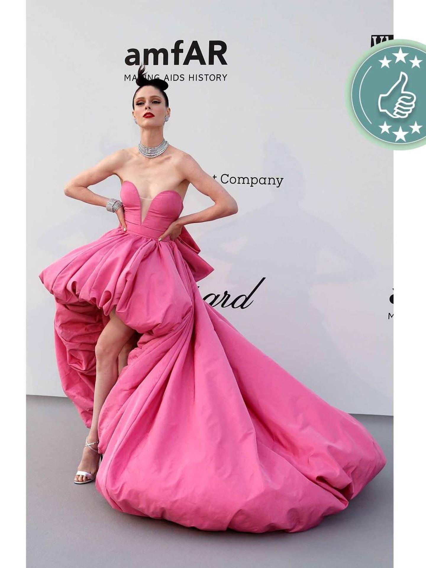 La modelo Coco Rocha, impresionante con este vestido de Ashi Studio. (Reuters)