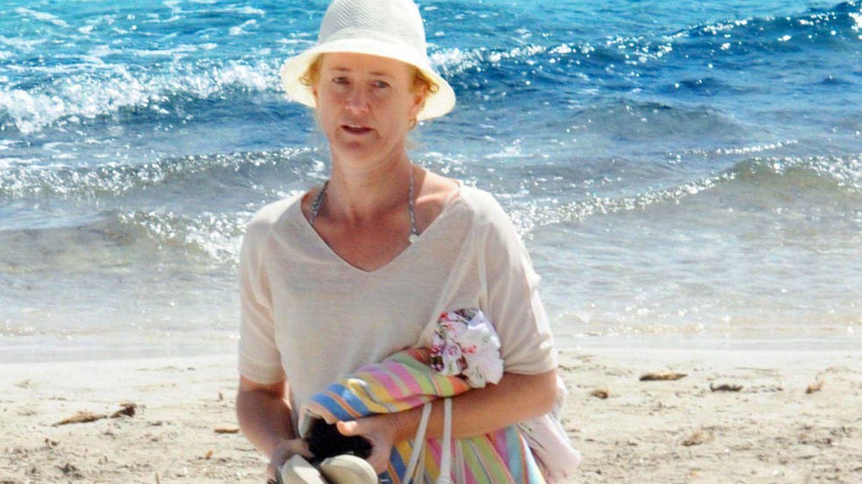 Ana Duato, en las playas de Ibiza. (CP)
