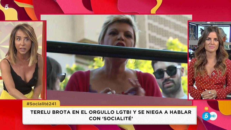 El desprecio de Terelu Campos al programa de Patiño en el desfile del Orgullo LGTBI