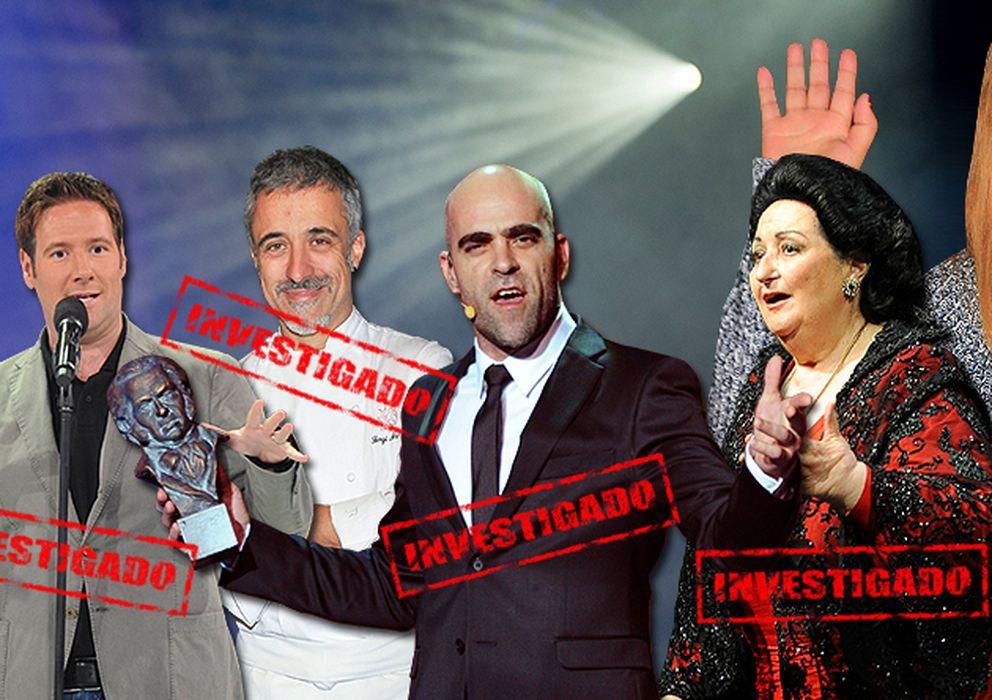 Foto: Algunos de los personajes conocidos investigados por la Agencia Tributaria junto a Chabelita Pantoja (Vanitatis)