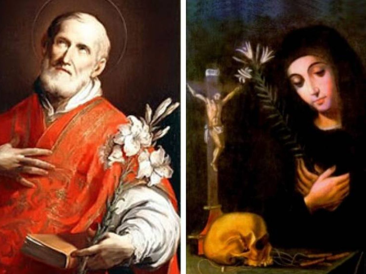 Foto: San Felipe Neri y Santa Mariana de Jesús de Paredes, ambos homenajeados el 26 de mayo por el santoral católico