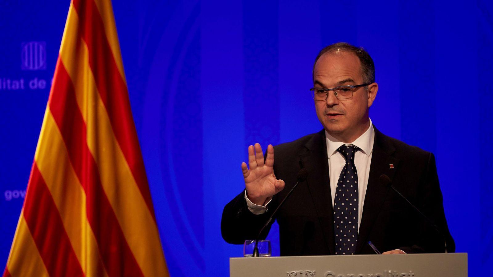 Foto: El conseller de Presidencia y portavoz de la Generalitat, Jordi Turull. (EFE)