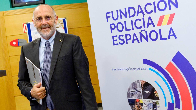 Reinares al inicio de una conferencia sobre yihadismo en Logroño, en 2019. (EFE)