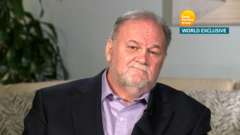 Thomas Markle, durante la entrevista ofrecida a Morgan Piers. (Reuters)