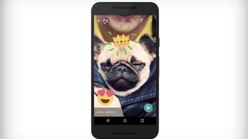 WhatsApp 'imita' a Snapchat: ya puedes dibujar y escribir sobre fotos y vídeos